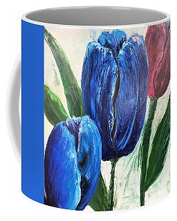 Tulips Large Oil Flowers Coffee Mug