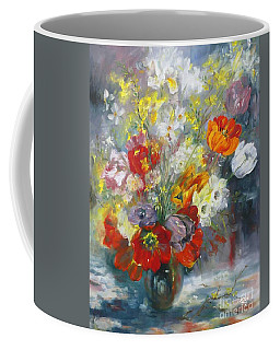 Tulips, Narcissus And Forsythia Coffee Mug