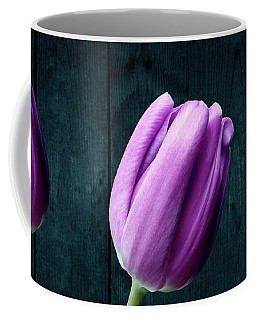 Tulips On Wood Coffee Mug