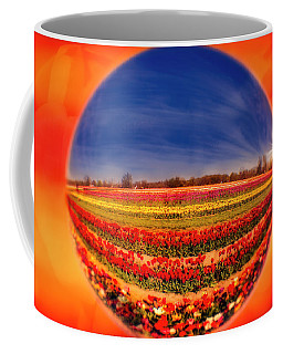 Coffee Mug featuring the photograph Tulips Reflections And Refractions by Susan Candelario