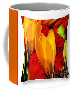 Coffee Mug featuring the digital art Tulips Throw Pillow by Gayle Price Thomas