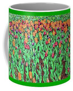 Coffee Mug featuring the painting Tulips Tulips Everywhere by Deborah Boyd