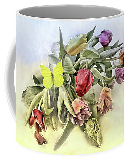 Tulips With Butterfly Coffee Mug