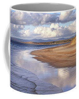 Tullan Strand - Clouds Reflected In The Sea, The Beach And Donegal Hills Coffee Mug