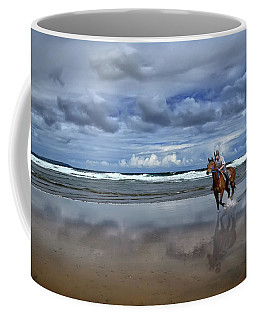 Tullan Strand - Horseriding In The Surf Coffee Mug