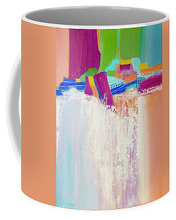 Coffee Mug featuring the painting Tumbling Waters by Irene Hurdle