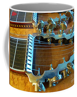 Coffee Mug featuring the photograph Tuning Pegs On Sho-bud Pedal Steel Guitar by Rosanne Licciardi