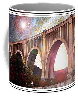 Tunkhannock Viaduct, Nicholson Bridge, Starry Night Fantasy Coffee Mug