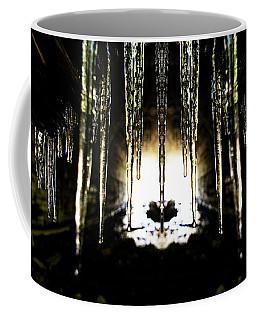 Tunnel Icicles Reflection Coffee Mug