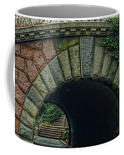 Coffee Mug featuring the photograph Tunnel On Pathway by Sandy Moulder
