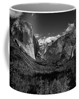 Tunnel View Black And White  Coffee Mug