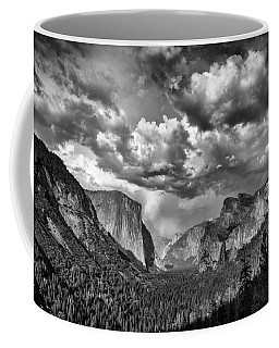 Tunnel View In Black And White Coffee Mug
