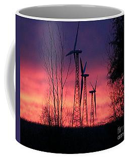 Turbines, Trees And Twilight Coffee Mug by Kathy M Krause