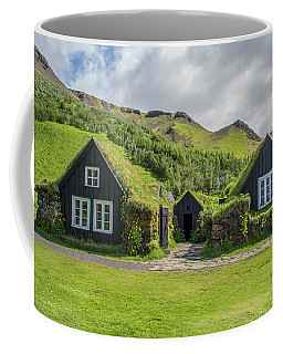 Turf Roof Houses And Shed, Skogar, Iceland Coffee Mug