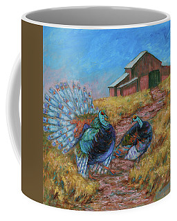 Coffee Mug featuring the painting Turkey Tom's Tango by Xueling Zou