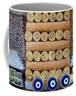 Coffee Mug featuring the photograph Turkish Sweets Painterly by Joan Carroll