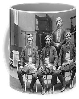 Turkish Wrestlers Practicing For The Golden Belt 1904 Coffee Mug