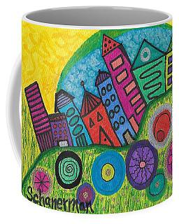 Turning Funky City On Its Ear Coffee Mug by Susan Schanerman