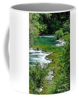 Turqouise Waterfalls Of Skradinski Buk At Krka National Park In Croatia Coffee Mug