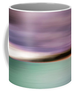 Coffee Mug featuring the photograph Turquoise Waters Blurred Abstract by Adam Romanowicz