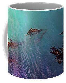 Turquoise Current And Seaweed Coffee Mug by Nareeta Martin