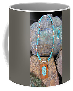 Turquoise #8 In Gourd Wood #r112 Coffee Mug