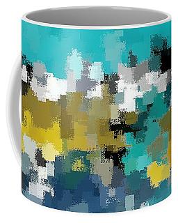 Turquoise And Gold Coffee Mug