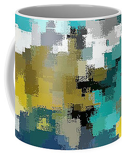 Turquoise And Gold Coffee Mug