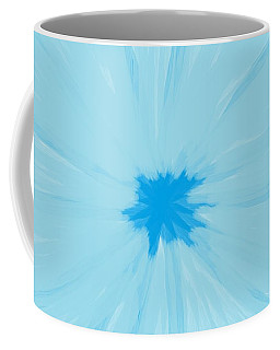 Turquoise Flower Abstract Coffee Mug by Linda Velasquez