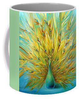 Turquoise Peacock Coffee Mug