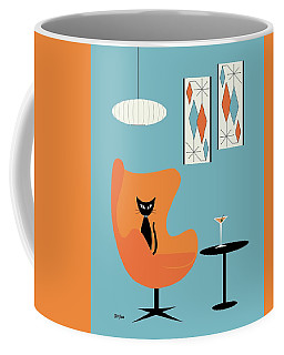 Coffee Mug featuring the digital art Turquoise Room by Donna Mibus