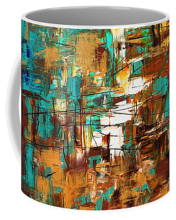 Coffee Mug featuring the painting Turquoise Scent by Carmen Guedez