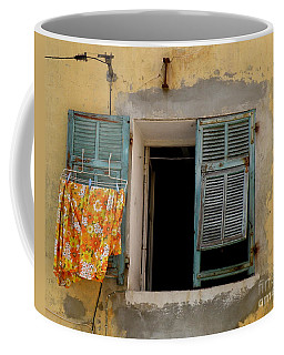 Turquoise Shuttered Window Coffee Mug