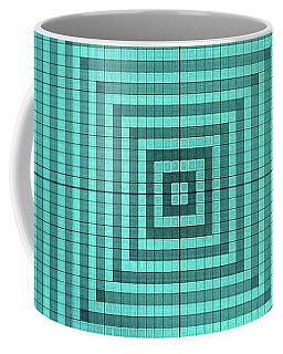 Turquoise Square Coffee Mug