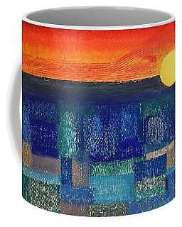 Coffee Mug featuring the painting Turquoise Sunset by Norma Duch
