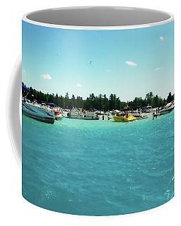 Turquoise Waters At The Torch Lake Sandbar Coffee Mug