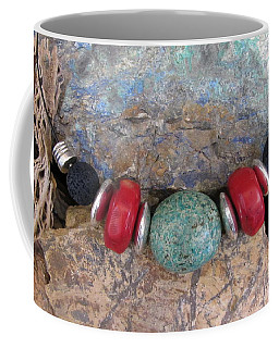 Turquoise,coral And Lava #s53 Coffee Mug