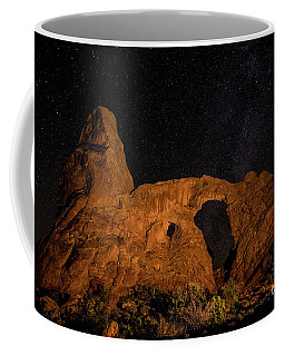 Coffee Mug featuring the photograph Turret Arch And The Milky Way - Utah by Gary Whitton