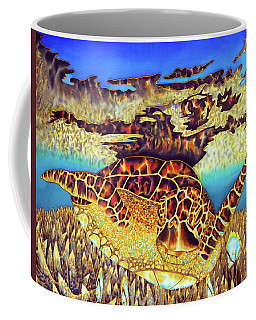 Caribbean Sea Turtle And Stag Horn Coral Coffee Mug