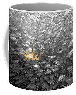 Turtle And Fish School Coffee Mug