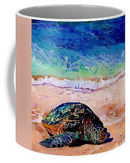 Turtle At Poipu Beach 9 Coffee Mug by Marionette Taboniar
