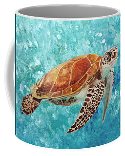 Turtle Swimming Coffee Mug