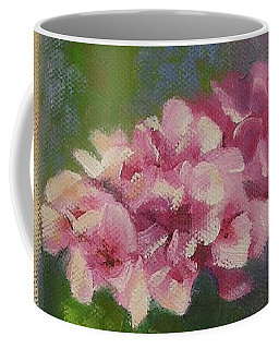 Coffee Mug featuring the painting Tuscan Flower Pot Oil Painting by Chris Hobel