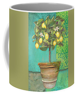 Tuscan Lemon Topiary - Damask Pattern 1 Coffee Mug