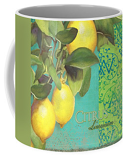Tuscan Lemon Tree - Citrus Limonum Damask Coffee Mug
