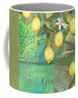 Tuscan Lemon Tree - Damask Pattern 2 Coffee Mug