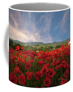Tuscan Poppy Field Coffee Mug
