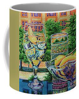 Coffee Mug featuring the drawing Tuscan Summer Lemonade  by Peter Piatt