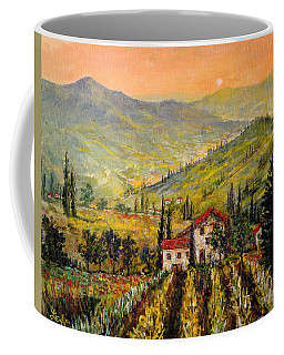 Tuscan Twilght Coffee Mug by Lou Ann Bagnall