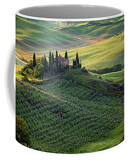 Green Hills Of Val De L' Orca Tuscan Villa Coffee Mug